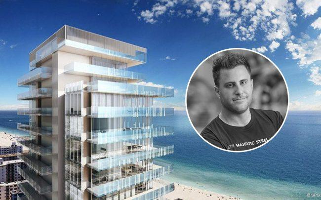 Todd Leebow and Glass in South Beach (Credit: AMM, Seaside Properties Group)