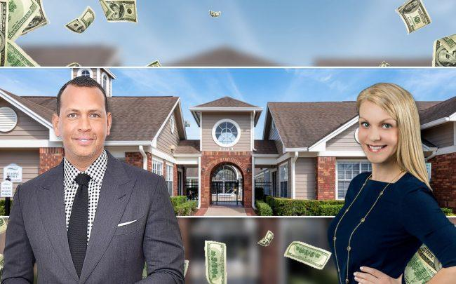 Alex Rodriguez and Erin Knight with Laguna Place in Kissimmee (Credit: Michael Loccisano/Getty Images)