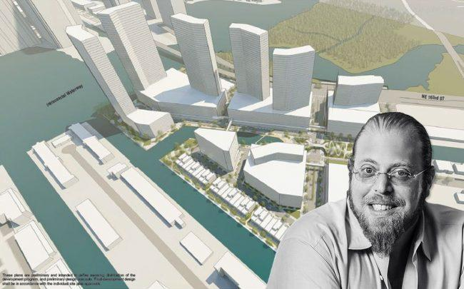 A rendering of the Intracoastal Mall and Gil Dezer