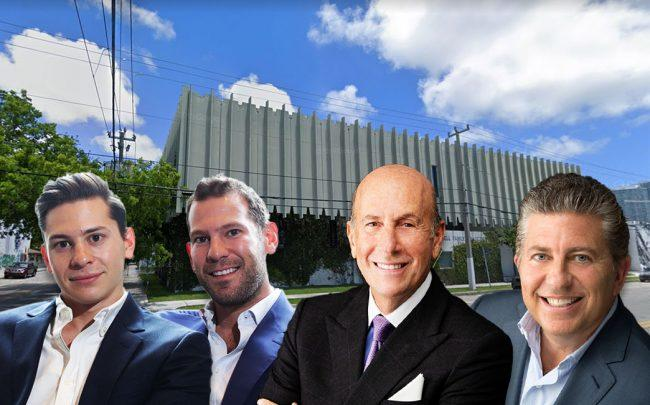 From left: Erik Rutter, David Weitz, David Levinson and Robert Lapidus, with 95 Northwest 29th Street (Credit: Google Maps)
