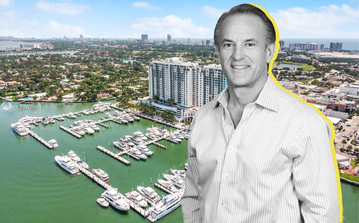 Commissioner Ricky Arriola and an aerial of Sunset Harbour in Miami Beach (Compass)