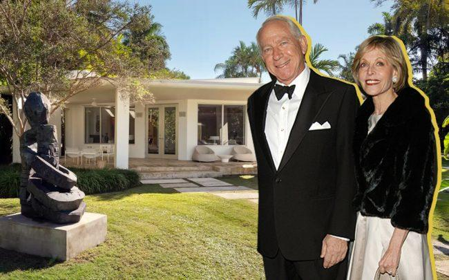6380 North Bay Road with Richard and Barbara Lane (Urdapilletta Real Estate, A Scott/Patrick McMullan/Getty)