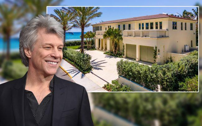 Jon Bon Jovi and 230 North Ocean Boulevard (Credit: RE/MAX and Theo Wargo/Getty Images)