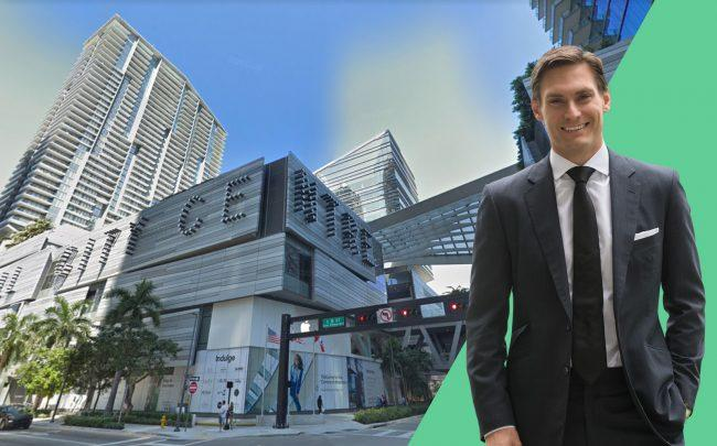 Swire president Kieran Bowers and Brickell City Centre (Google Maps)