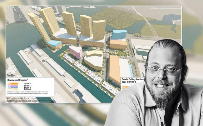 Rendering of the proposed redevelopment of the Intracoastal Mall and Gil Dezer