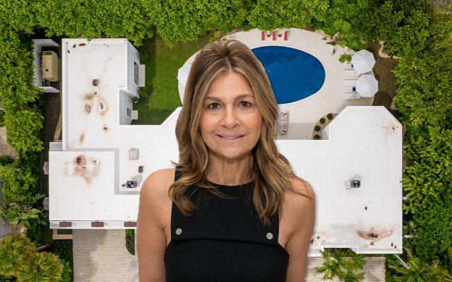 Lisa Perry, 3 Via Los Incas (Credit: Noam Galai/Getty Images, and Nicklas Sargent for Douglas Elliman)