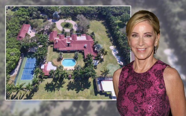 Chris Evert and 8563 Horseshoe Lane (Credit: ason Koerner/Getty Images, and Siemens Group Realty)