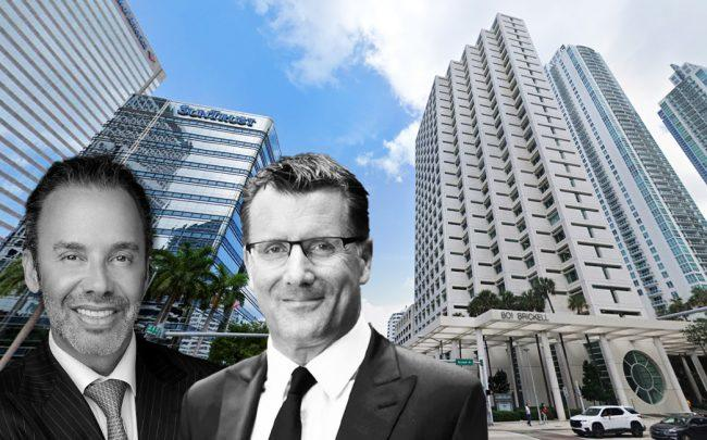 Jay Parker and Mike Sales, with 801 Brickell Avenue (Credit: Google Maps)