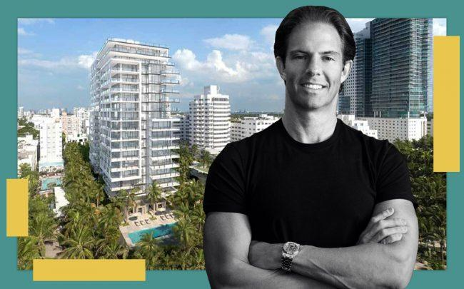 Michael Shvo and a rendering of the tower (City of Miami)