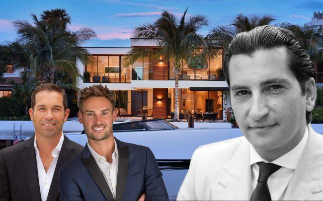 4528 Prairie Avenue with (from left) Julian Johnston, Reid Heidenry, Mathieu Massa (Corcoran, Sotheby's, Linkedin, Spectrum Real Estate Photography)