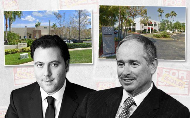 Shlomo Khoudari, Managing Partner at Elion Partners, and Stephen A. Schwarzman, CEO of the Blackstone Group, with 1800-1880 North Commerce Parkway, Weston, and 3400-3450 Park Central Boulevard, Pompano Beach (Credit: Google Maps)