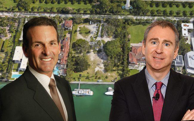 Stuart Miller, Ken Griffin and 11 and 12 Star Island Drive (Credit: Google Maps)