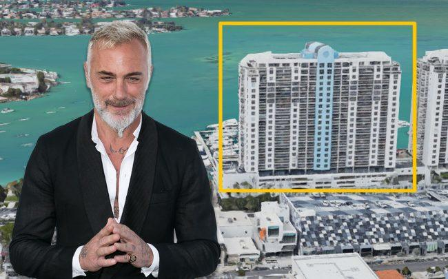 Gianluca Vacchi  and 1800 Sunset Harbour Drive (Credit: Marc Piasecki/Getty Images, and Google Maps)