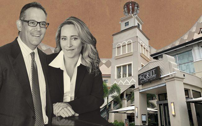 Simon Property Group's David Simon, Turnberry's Jackie Soffer and the Aventura Mall (Getty, Wikipedia)