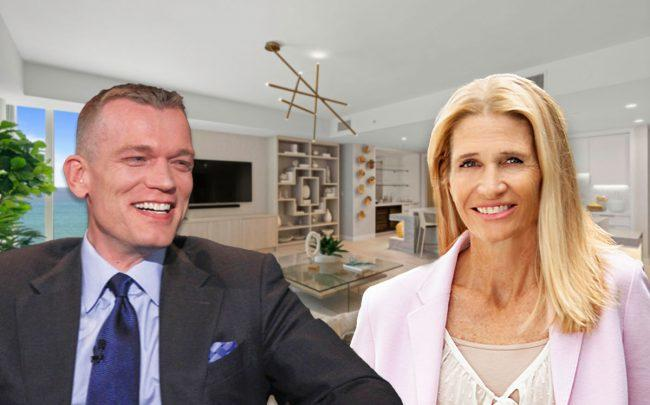 Joseph McMillan, CEO of DDG, and Kerry Warwick with 3550 South Ocean