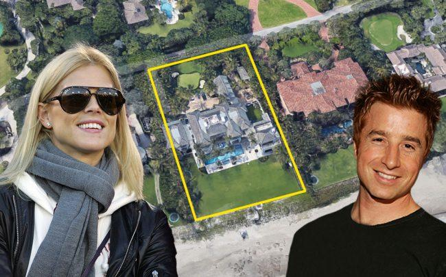 Elin Nordegren, Russell Weiner, and 12520 Seminole Beach Road (Credit: Ezra Shaw/Getty Images, Michael Bezjian/WireImage,a nd Google Maps)