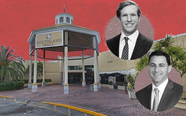 Southland Mall, 20505 South Dixie Highway in Cutler Bay with JLL's Tom Hall and Danny Finkle (Google Maps, JLL)