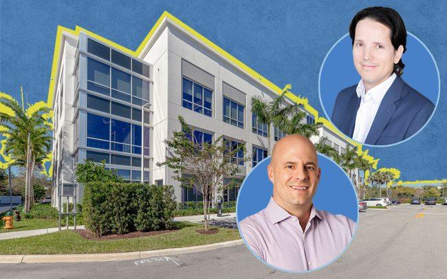 UDT CEO Henry Fleches and Midtown Capital CEO Alejandro Velez with 2900 Monarch Lakes Boulevard (Miramar Parks & Rec, Midtown Capital, Cushman & Wakefield)