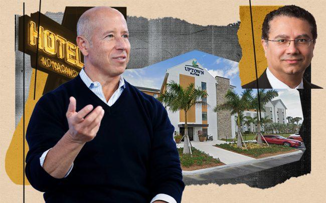 Starwood CEO Barry Sternlicht, InTown Suites CEO Ash Kapur and 1071 NE 28th Avenue in Homestead (Getty, Google Maps)