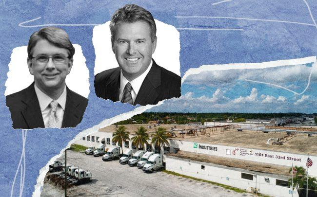 Mayor Bud Scholl and EverWest CEO Rick Stone with 1101 East 33rd Street, Hialeah (City of Sunny Isles Beach, EverWest)