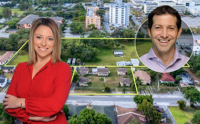 Jamie Rose Maniscalco and Daniel Ades with the property