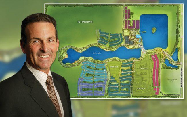 Stuart Miller of Lennar & a map of Arden community