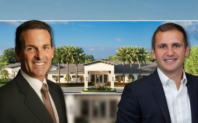 Stuart Miller & Mike Nunziata, with a rendering of Avalon Trials (Credit: Lennar Homes)