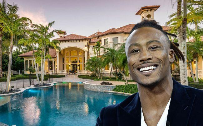 Brandon Marshall and 16710 Stratford Court (Credit: Steven Ferdman/Getty Images, and Lenny Kagan)
