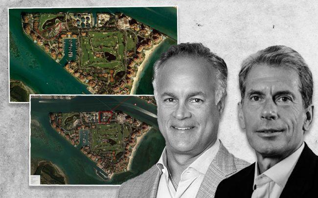 Thomas Lauria and Heinrich Von Hanau, with Fisher Island