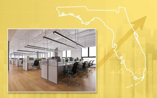 Despite record high office vacancies across South Florida, average asking rates hit new highs