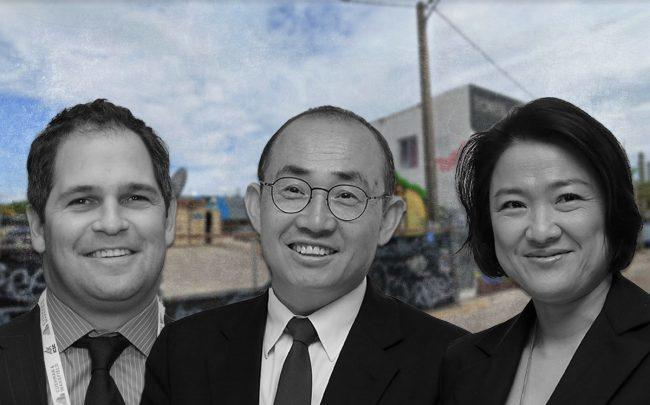 From left: Benjamin Bernstein, Pan Shiyi, and Zhang Xin (Credit: Google Maps, Dickson Lee/South China Morning Post via Getty Images)