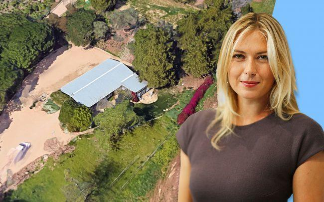 Maria Sharapova and the ranch (Credit: Google Maps and Thomas Niedermueller/Getty Images)