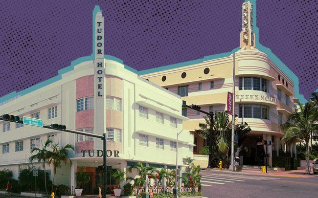 Tudor House Art Deco and Essex House hotels (Wikipedia Commons)
