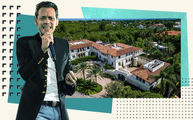 Marc Anthony and 300 Costanera Road (Getty, Compass)