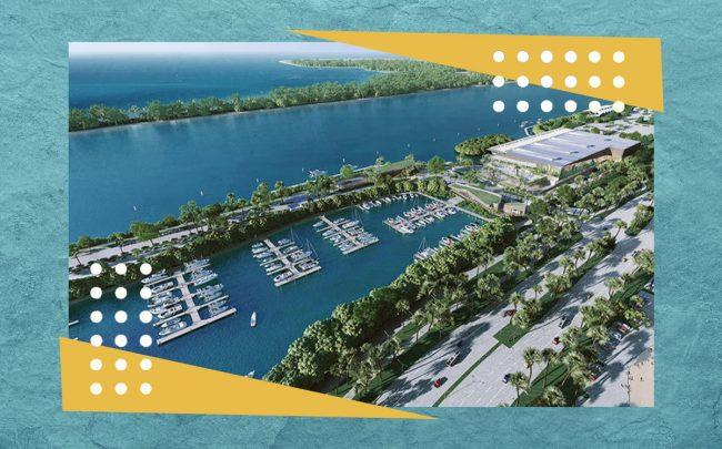 Biscayne Marine Partners' rendering of new boat storage and marina facility