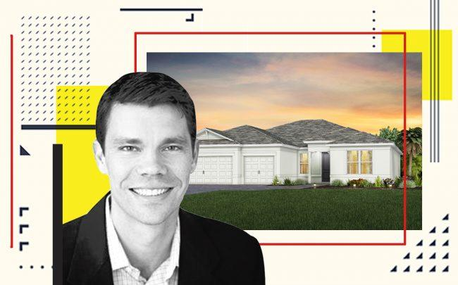 Brent Baker and a rendering of 5024 South State Road 7 (DiVosta, iStock)
