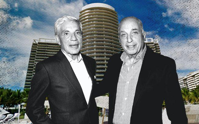 Simon and David Reuben with St. Regis Bal Harbour (Getty, Google Maps)