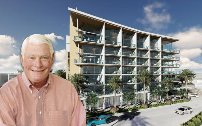 Bill Morris of Southcoast, and a rendering of the project (Credit: RLC Architects)