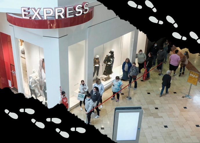 Black Friday Retail Foot Traffic Fell by Nearly 50%