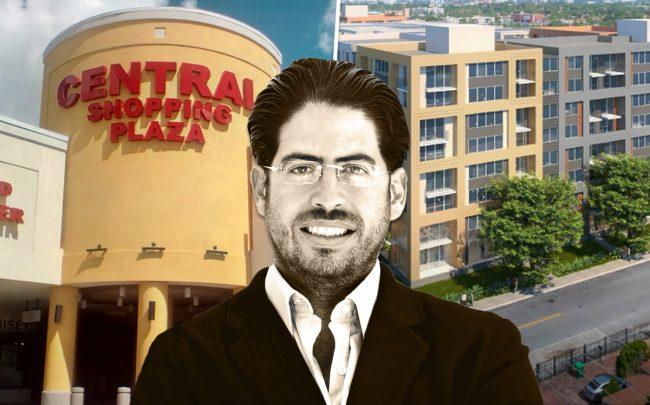 David Martin, Central Shopping Plaza, and a rendering of the apartment complex