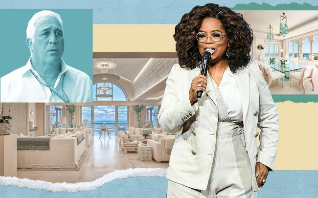 Oprah Winfrey and (inset) Lawrence Stroll over the unit (Getty)