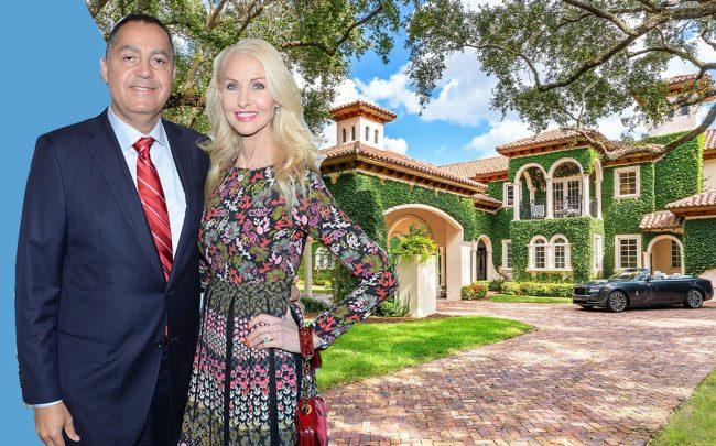 Don and Katrina Peebles with their Old Cutler Road home (Getty, The Jills Zeder Group/photography by 1 OAK Studios)