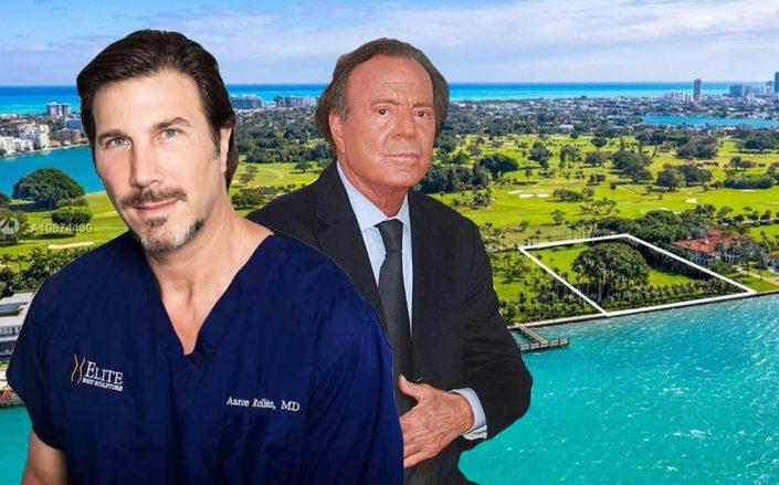 Dr. Aaron Rollins, Julio Iglesias, 7 Indian Creek Island Road (Getty, Realtor)