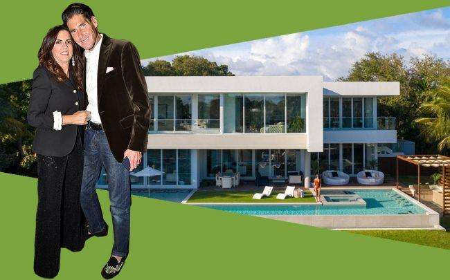 Stuart and Pamela Rothenberg with 4731 Lake Road, Miami (Patrick McMullan/Getty, Compass)