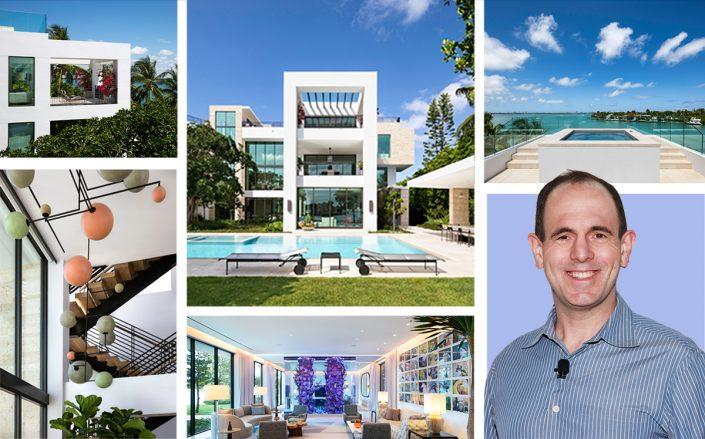 Keith Rabois with 1429 North Venetian Way (Getty, Paul Stoppi for Bill & Bryan Team/Douglas Elliman)