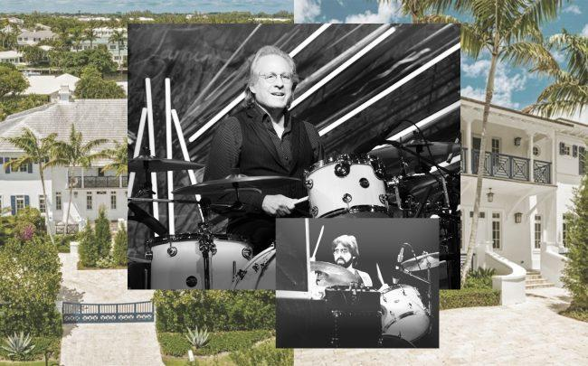 Max Weinberg drumming & 1041 Seaspray Avenue, Delray Beach (Getty, Corcoran)