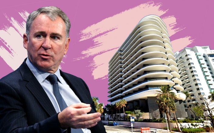 Ken Griffin with Faena House at at 3315 Collins Avenue (Photos via Getty; Google Maps)