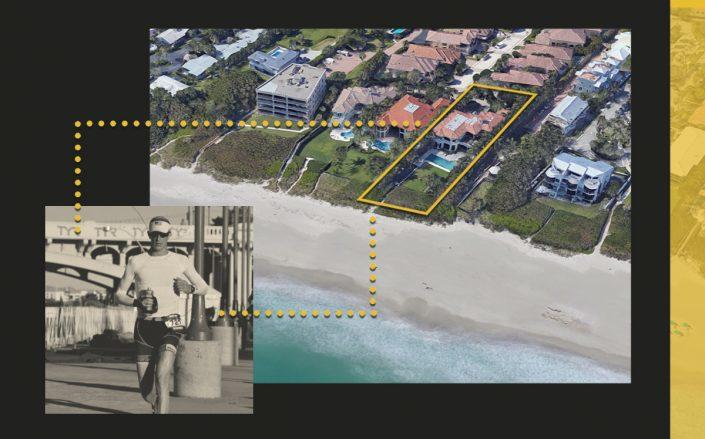 Steven Fried and 308 Alicante Drive, Juno Beach (Linkedin, Google Maps)
