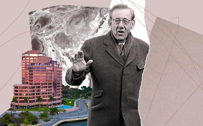Phillips Point office towers with Related's Stephen Ross (JLL, Getty)