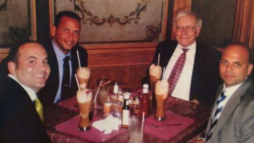 From left: Jose Gomez, Alex Rodriguez, Warren Buffett and Constantine Scurtis (Miami-Dade County Circuit Courts)
